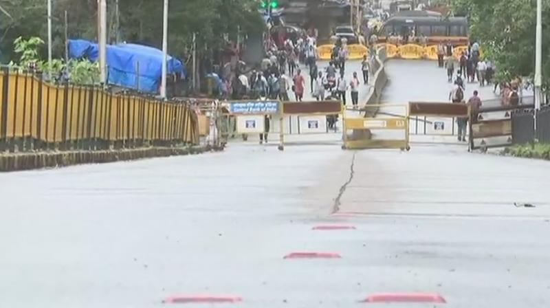 The bridge connects NM Joshi Marg to Elphinstone Road and Lower Parel. (Photo: ANI | Twitter)