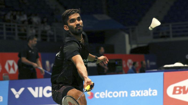 Ace Indian shuttler Kidambi Srikanth crushed Lucas Corvee of France on the second day of the ongoing China Open by registering an easy 21-12, 21-16 win in men's singles match. (Photo: AP)