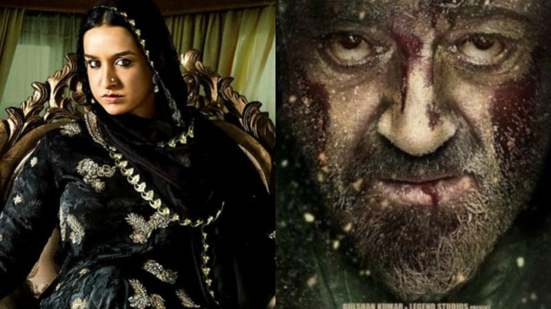 Posters of 'Haseena Parkar' and 'Bhoomi.'