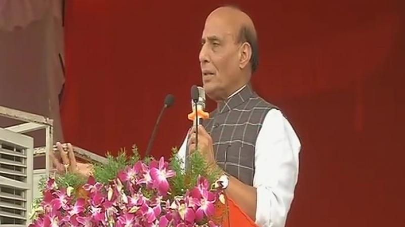 Rajnath Singh attacks Rahul; says BJP dousing fire lit by Cong