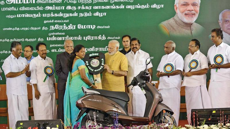 PM Modi to launch Amma Two-wheeler Scheme in Chennai today