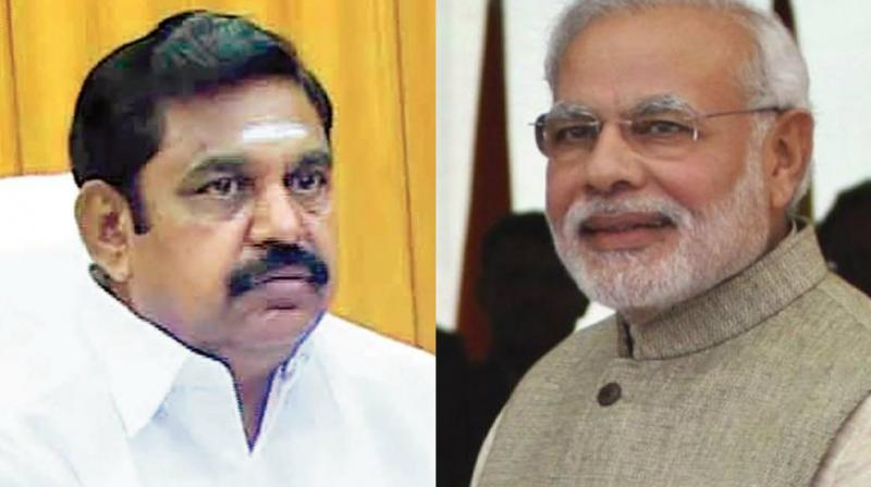 TN CM EPS asks Modi to set up Cauvery Board