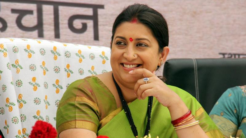Textiles Minister Smriti Zubin Irani has announced that weavers will henceforth be able to avail a wide array of Government services from Weavers' Service Centres (WSCs).