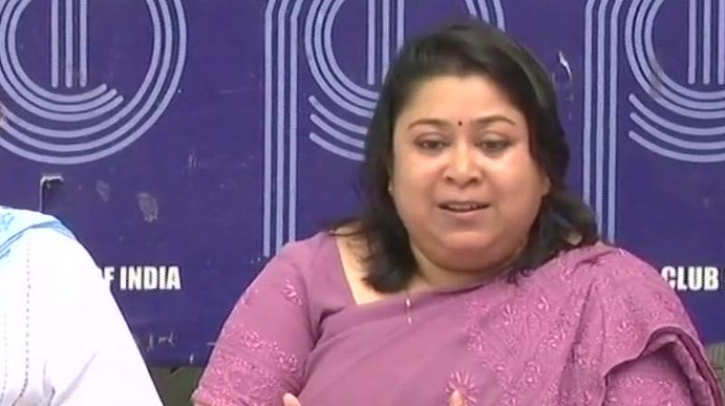 'We never imagined that we would have to hold a press conference to justify our work. We are answerable only to the Constitution,' Manisha Saxena said. (Photo: ANI   Twitter)