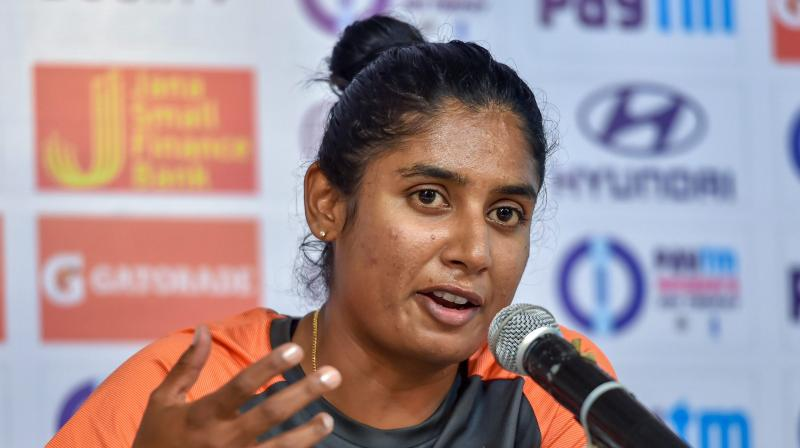 India veteran Mithali Raj on Tuesday made herself available for the upcoming T20 home series against South Africa but with the focus on youngsters ahead of next year's World Cup, the selectors may not pick her. (Photo: PTI)