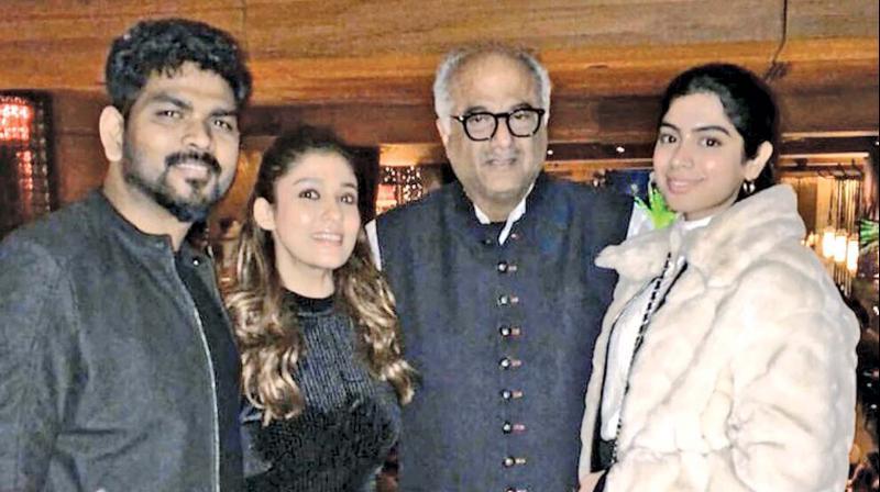 Nayanthara and Vignesh ShivN with Boney Kapoor and Kushi