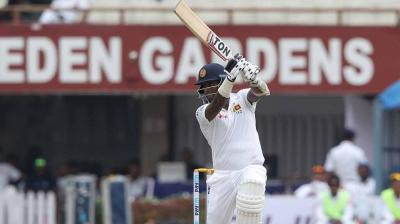 Angeo Mathews has put up a good partnership with Lahiru Thirimanne so far. (Photo: BCCI)