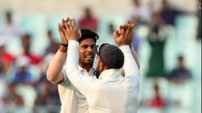 Umesh Yadav picked up the crucial wickets of Lahiru Thirimanne and Angelo Mathews. (Photo: BCCI)