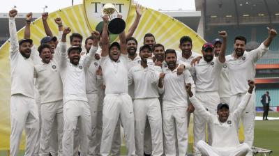 Virat Kohli's India completed a historic Test series triumph after beatiung Australia 2-1 with one match ending in a draw. (Photo: AP)
