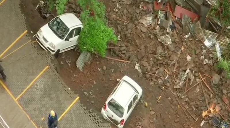 Pune Police yesterday arrested them in connection with a wall collapse incident in which 15 people lost their lives. (Photo: ANI)