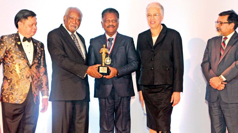 Deputy Chief Minister O Panneerselvam on Monday honoured with the 'International Rising Star of the Year-Asia' award at the 'Global Community Oscars, 2019-the Ninth Annual Congressional Awards Gala' in Chicago.