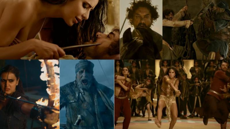 Screengrabs from 'Thugs of Hindostan' trailer.