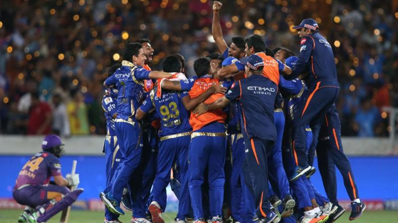 Mumbai Indians completed a brilliant comeback victory over Rising Pune Supergiant, clinching the match, and their third IPL title by just 1 run. (Photo: BCCI)