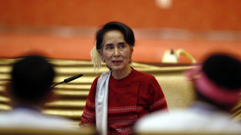 Myanmar State Counsellor Aung San Suu Kyi. (Photo: AP)