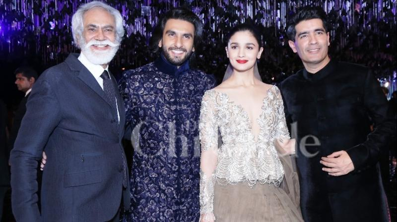 Ranveer Singh and Alia Bhatt wrap up the show for designer Manish Malhotra.
