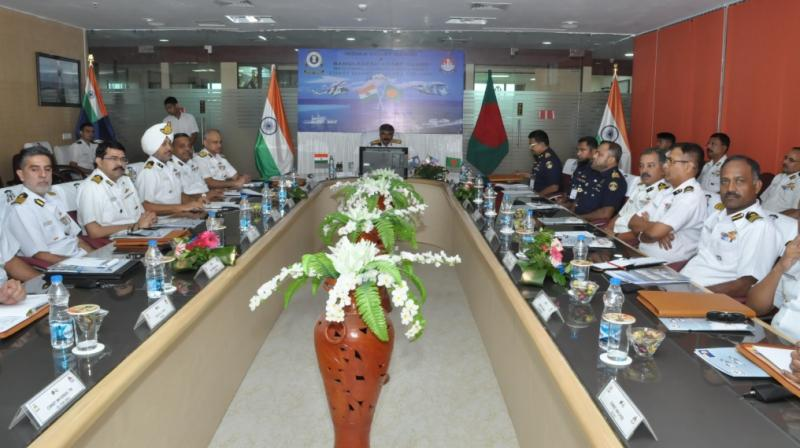 The BCG sought ICG's help during the regional commanders-level meeting at ICG North East (NE) regional headquarters in New Town, Kolkata on Monday. (Photo: DC/Rajib Chowdhuri)