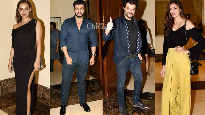 The team of the film 'Mubarakan' held a bash at J W Marriott in Mumbai on Friday before they head to London for the next schedule of the film. (Photo: Viral Bhayani)