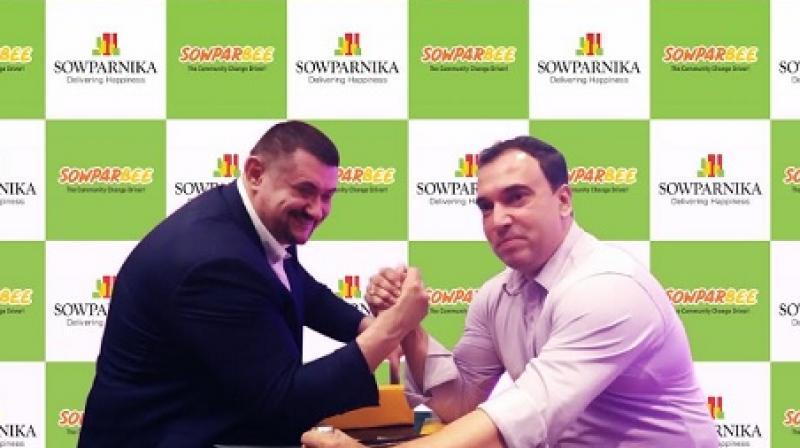 L to R: Igor Mazurenko (President - PAL), Raja Mukherjee (CMO - Sowparnika Developers)