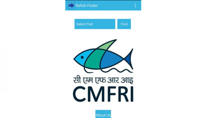 Named 'Fish finder Version 1', the app is being launched on the occasion of the institute celebrating its platinum jubilee.