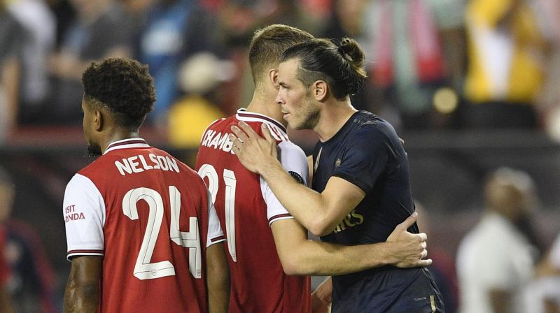 Welsh star Gareth Bale didn't play in Madrid's 3-1 loss to Bayern Munich in Houston on Saturday, manager Zinadine Zidane saying Monday he declined to dress for the match as the club pursued options for off-loading him. (Photo:AP)