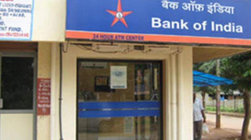 A Bank of India ATM.