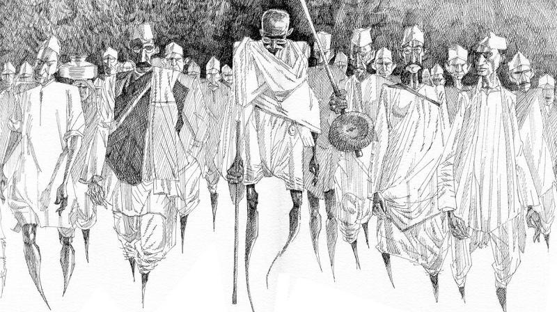 The sketch by artist Shankar Pamarthy