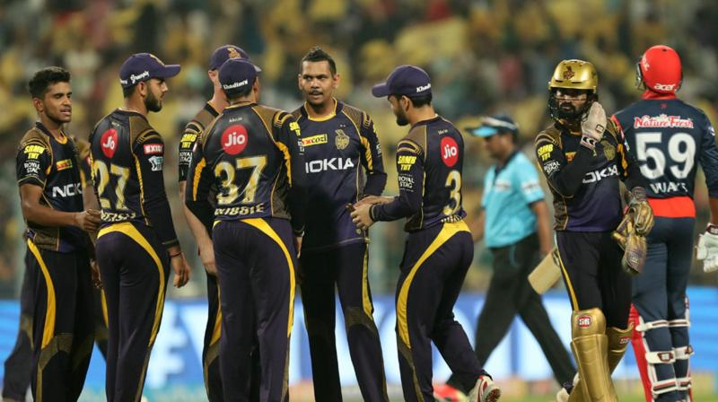 Sunil Narine became only the third bowler to complete 100 wickets in the IPL. (Photo: BCCI)