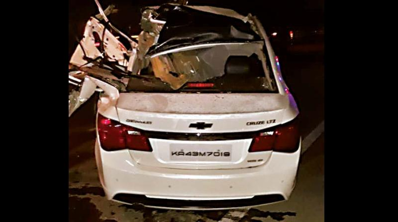 The car after accident. (Photo:DC)