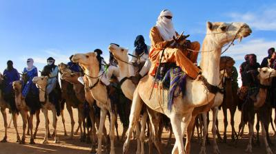 Tuaregs in northern Niger are hoping to draw tourists back by putting their traditional dances, music poetry and camel races on display. (Photos: AP)