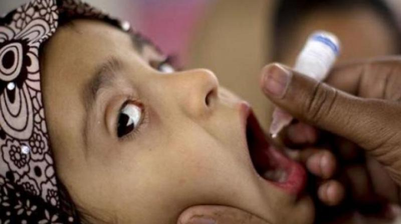 The highest number of children taking polio drops was recorded at Sitaphalmandi because of it is close to the Secunderabad station. (Representational Image)