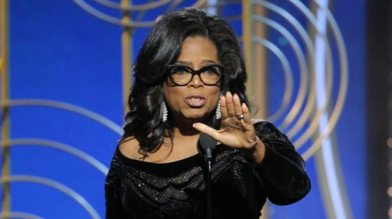 Soon after Winfrey made the speech Twitter users went wild over the barnstorming speech joking that the former talk show host should make a run in 2020