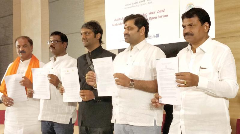 The release of 'It's our Mahadevapura', a manifesto prepared by residents of the constituency (Image: DC)