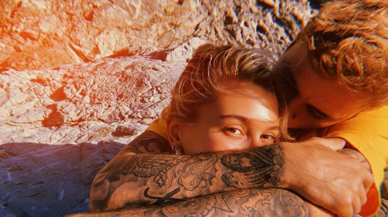 Justin Bieber and Hailey Baldwin. (Photo: Instagram)