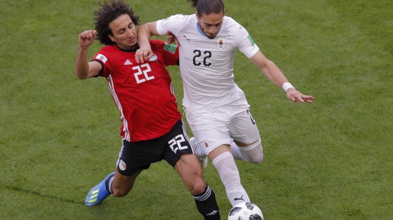 Egypt 0-1 Uruguay | Gimenez heads Uruguay past Salah-less Pharaohs