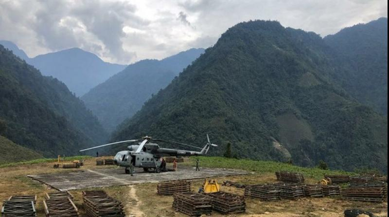 The helicopter that crashed near Budgam on February 27 killing six personnel on board, is missing and the Indian Air Force is searching for it. (Photo: ANI)