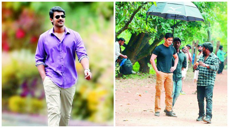 A still from Mirchi and A still from Srimanthudu