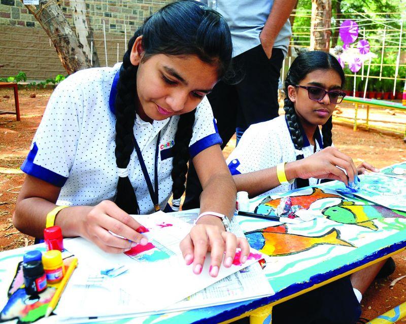 Children taking part in a workshop at HLF.