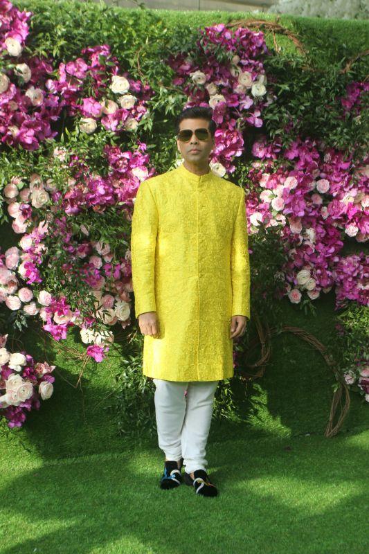Karan Johar at Akash Ambani wedding. (Photo Courtesy: Mrugesh Bandiwadekar)