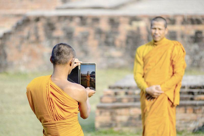 Monks in Varanasi.