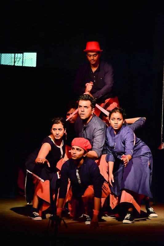 A still from the play Remember Remember