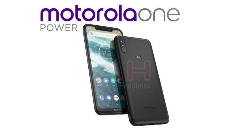Motorola One Power leaked image notch
