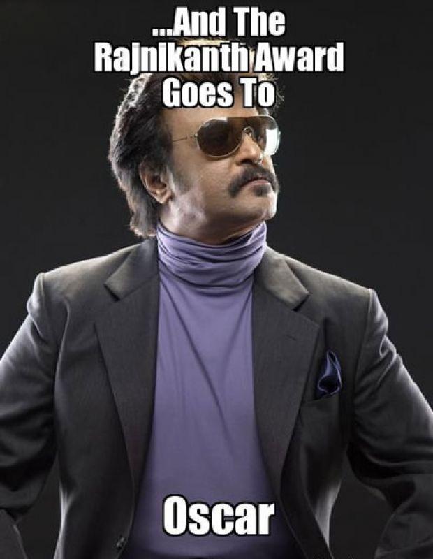 Rajini's Oscars meme.