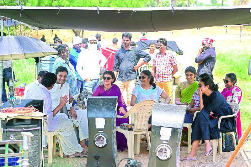 On location: the Mahanati team