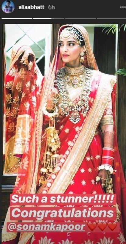 Celebs congratulate Sonam Kapoor on her wedding.
