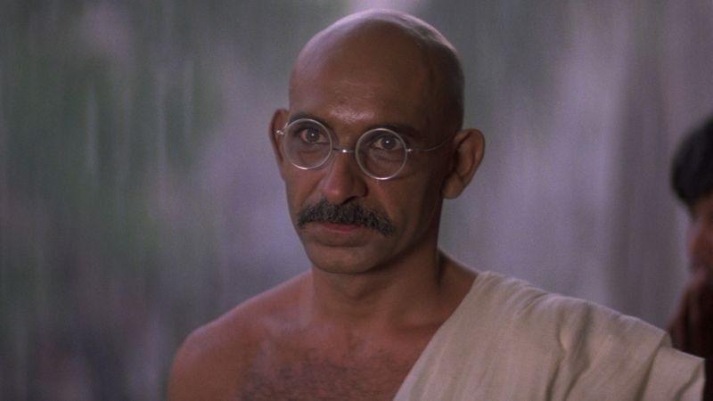 Sir Ben Kingsley in and as Gandhi