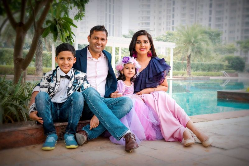 Preety Tyagi with her husband and children, whom she counts on as her biggest support system and inspiration. (Photo: File)