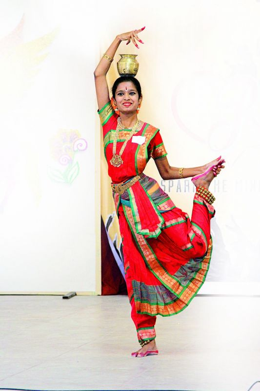 Going classical: Kavya performing classical dance.