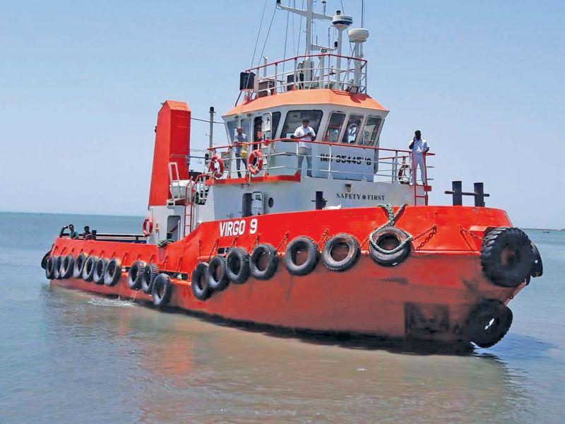 Maldivian tug boat at Thoothkudi port.