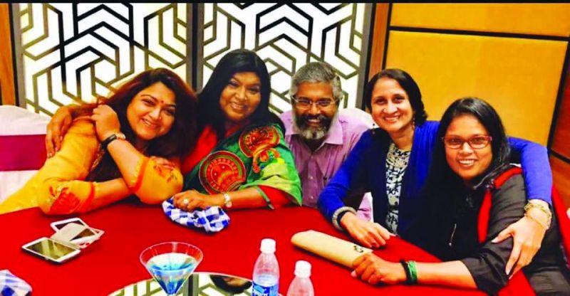 Khushboo with Anu Parthasarathy, Brinda, Subbu and Sujataa.