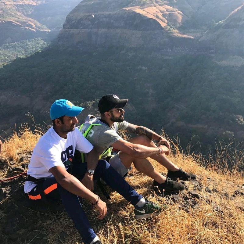 Virat Kohli and Cheteshwar Pujara have been instrumental for India in the 13 Test-long home season. (Photo: Virat Kohli/ Twitter)
